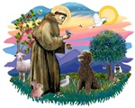St. Francis #2 &<br>Standard Poodle (Chocolate)