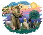 St. Francis #2 & Two Labradors
