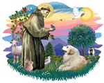St. Francis #2 &<br> Great Pyrenees#2