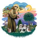 St. Francis #2/&<br>Shih Tzus (4)