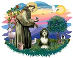 St. Francis #2 &<br> Bearded Collie (#8)
