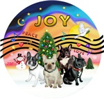 CHRISTMAS MUSIC #2<br>Four French Bulldogs