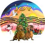 CHRISTMAS MUSIC #2<br>Two Brown Dachshunds