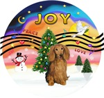 CHRISTMAS MUSIC#2<br>Long Haired Sable Dachshund