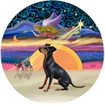CHRISTMAS ANGEL<BR>& Manchester Terrier