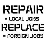 Repair equals local jobs.