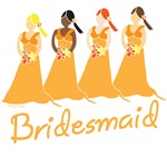 Orange Bridesmaid T-shirts, Favors, Gifts