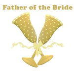 Golden Father of the Bride T-shirts Gifts