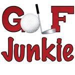 Golf Junkie T-shirts and Golf Lover Gifts