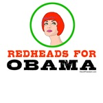 Redheads for Obama T-shirts, Buttons & Stickers
