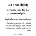 Silly Word- Scam-o-rama-dingdong