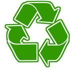 Graphic Recycle Symbol: Green