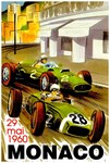 Monaco Vintage 1960 Grand Prix Auto Racing Adverti