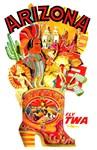 TWA Arizona Vintage Print