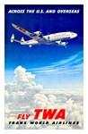 TWA Fly Overseas Print