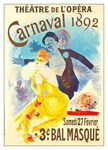 Theatre De Opera Carnaval Rare Vintage Advertising