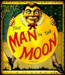 Man in The Moon Vintage Game Advertising Print