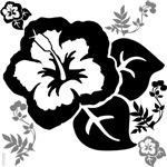 OYOOS Black Flower design