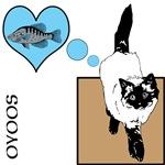 OYOOS Cat Loves Fish design