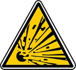 Explosive Risk Hazard Symbol