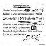 Business Time Weekly Schedule