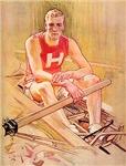 Vintage Rowing Portrait