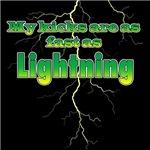 My Kicks are as fast as lightning