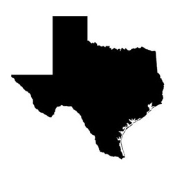 Black Texas Outline