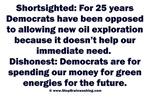 Democrats Shortsighted Dishonest