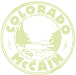Colorado for McCain (Lt Green)