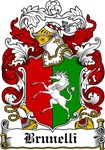 Brunelli Family Crest, Coat of Arms