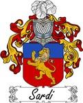 Sardi Family Crest, Coat of Arms