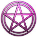 Pink Metal Pagan Pentacle