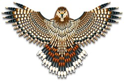 Beadwork Red-Tailed Hawk