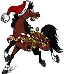 Horse Wearing Jingle Bells