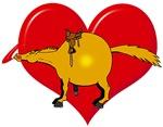 Valentine Heart Horse - western