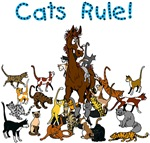 Horse & Cats