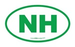 New Hampshire NH Euro Oval GREEN