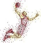 Garnet Red Basketball Uniform Dunk