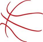 Basketball Ball Lines Red