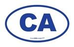 California CA Euro Oval BLUE