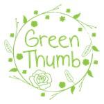 GREEN THUMB in a wreath