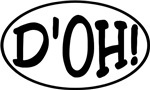 Comical Oval Stickers