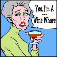 Wine Whore Cartoon