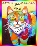 Cats of Many Colors Purr with Pride Stuff