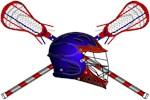Blue Lacrosse Helmet