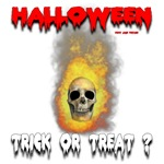 Halloween Skull Fire Trick or Treat