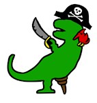 Pirate Dinosaur