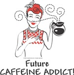 Unique Baby Gifts - 1950s Future Caffeine Addict
