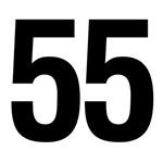 Number 55 Helvetica